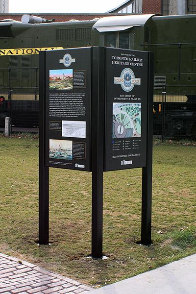 Railway Heritage, double sign