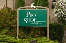 Pro Shop, Sign, Gold, Deer