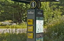 Exterior Kiosk With Brochure holder, map, and Exterior Display Case