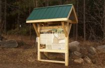 Wood Kiosk Structure